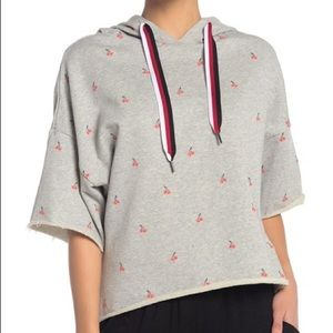 Betsey Johnson Cherries Jubilee Cropped Sweatshirt